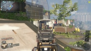 A screenshot of a Team Deathmatch multiplayer game on the Evac map in Call of Duty: Black Ops III.