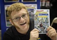 @amazingazcomics showing off his comic at @amazingcomiccon in Phoenix, Arizona on February 12.
