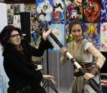 Mae Dae Cosplay (@maesburke) posing as Rey from Star Wars during @amazingcomiccon on February 14.