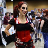 A Harley Quinn cosplayer (@queencandi) during @amazingcomiccon in Phoenix, Arizona on February 14.