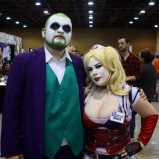 The Joker (@byronmarroquinjr) and Harley Quinn cosplayers during @amazingcomiccon in Phoenix, Arizona on February 14.