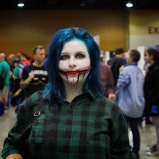 @damaged_generation__ cosplaying during @amazingcomiccon in Phoenix, Arizona on February 14.