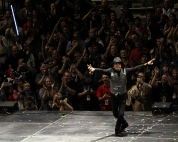 Mark Hamill waves goodbye to the crowd at the end of his panel in the Vivint Smart Home Arena at Salt Lake Comic Con on September 1. Salt Lake Comic Con was held at the Salt Palace Arena in Salt Lake City from September 1 through 3. / Photo by Stephan Starnes