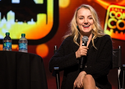 """I feel like Harry Potter is still a big part of my life and keeps me on track,"" Evanna Lynch said during her panel at Salt Lake Comic Con on September 2. Salt Lake Comic Con was held at the Salt Palace Arena in Salt Lake City from September 1 through 3. / Photo by Stephan Starnes"
