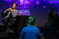 Rob Schneider answered fan questions about his career in film and comedy during his main stage panel at Salt Lake Comic Con at the Salt Palace Convention Center on September 21, 2017. Salt Lake Comic Con was held from September 21-23.