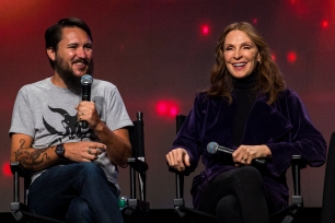 Actors Wil Wheaton and Gates McFadden reunited during what may have been their first panel alone together at Salt Lake Comic Con on September 22, 2017. Salt Lake Comic Con was held from September 21-23.