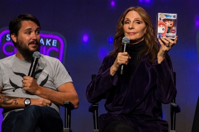Gates McFadden auctioned off a custom made Funko Pop of her Star Trek character Doctor Beverly Crusher at Salt Lake Comic Con on September 22, 2017. The pop was auctioned for $700 during her panel with Wil Wheaton to help support Mexico after their earthquake.